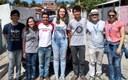 Professor, colaboradora e alunos do projeto de extensão em visita a comunidade São Rafael. (foto própria).